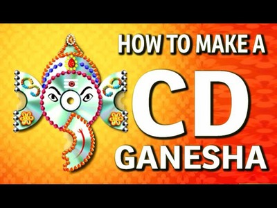 How to make a Wall Hanging CD Ganesha - Waste CD Craft Ideas - (DIY Recycled CD Craft)