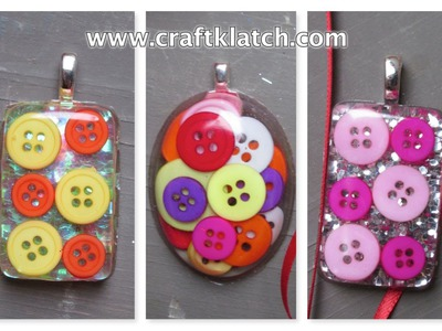 How to Make Button Resin Charms Craft Tutorial