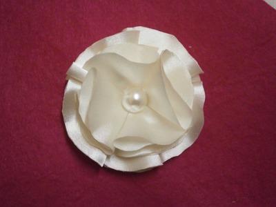 How to make easy satin flower, DIY,Tutorial, fabric flower