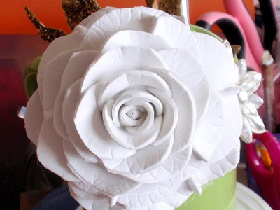 How to make Foam Flower, DIY, Tutorial Foam Rose #2