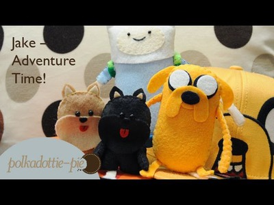 Jake Adventure Time Plush - DIY Felt Craft - PolkadottiePie Tutorial