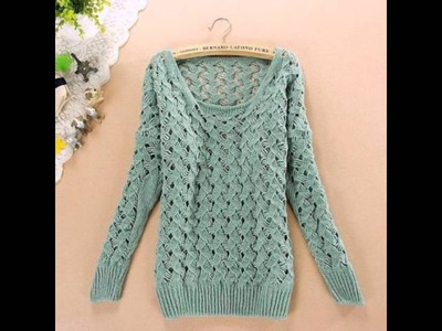 Как связать свитер. How to knit a sweater.