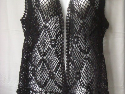 Как связать жилет крючком.how to knit crochet vest