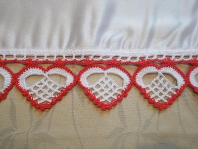 "Кайма ""СЕРДЦЕ"" Вязание крючком Bordure ""Heart"" Crochet"