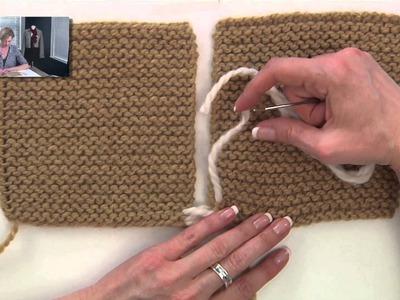 Knitting Help - Seaming Garter Stitch