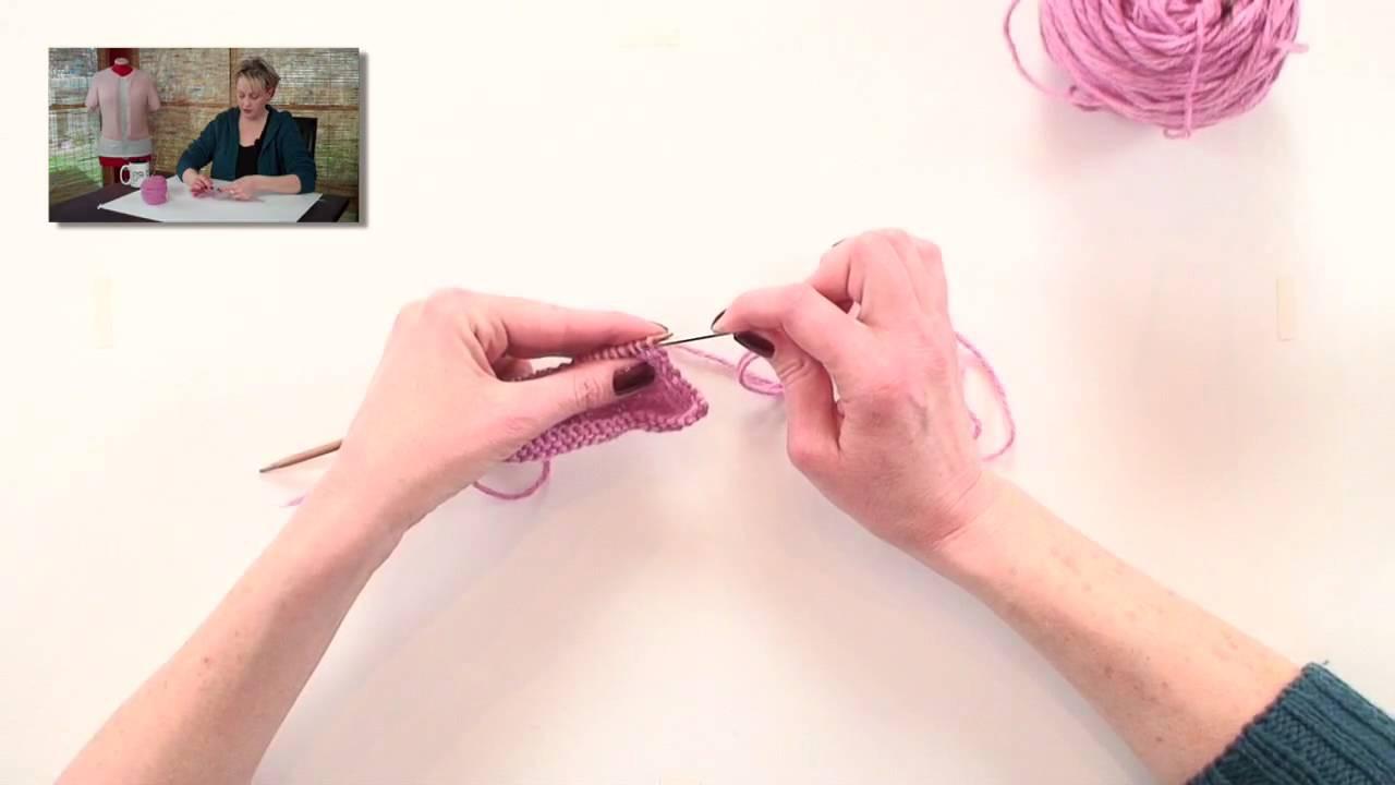 Knitting Help - Sewn Bind Off