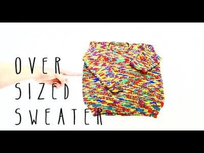 Knitting Oversized Sweater Tutorial Part 1 of 11