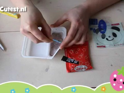 Kracie Popin' Cookin Panda Yaki DIY candy tutorial how to MostCutest.nl