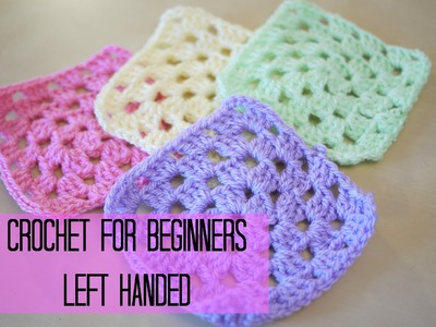 LEFT HANDED CROCHET: How to crochet a granny square for beginners | Bella Coco