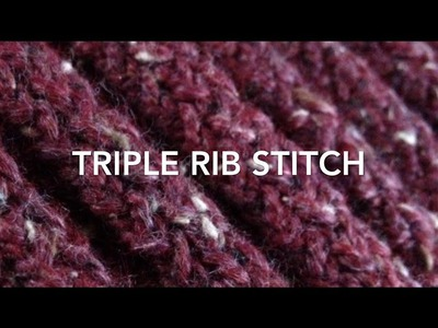 Loom Knit | Triple Rib Stitch