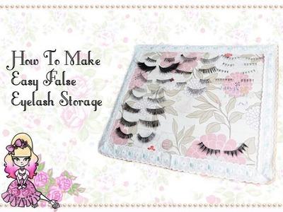 Make Your Own False Eyelash Storage - Craft Tutorial - Violet LeBeaux