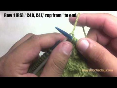 New Stitch A Day: How to Knit The Honeycomb Cable Stitch