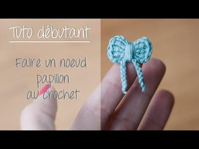 Noeud papillon au crochet pour débutant. Crochet easy bow tie
