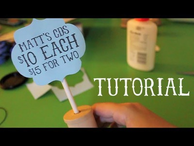Plushie Sale and Craft Tutorial - Cute Paper Sign
