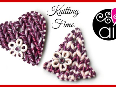 Polymer Clay Tutorial | DIY Knitting Fimo | Knit Effect | Ho imparato a lavorare a maglia :D