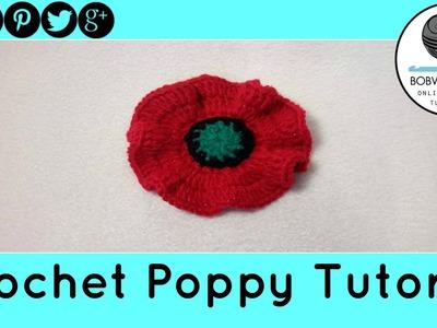 Poppy Flower Crochet Tutorial - Design 1 of 3 - 5000 Poppies Project