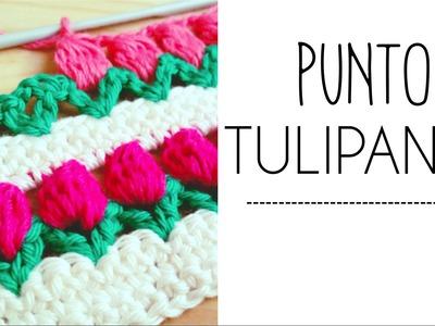 Punto TULIPANES en fila a Crochet - #PuntoPedia