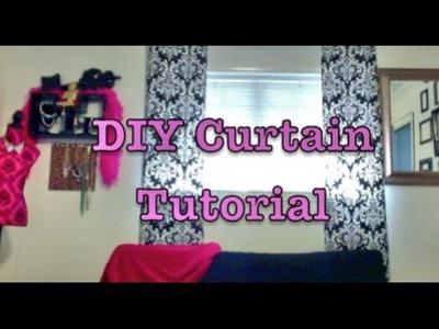 Quick & Simple Elegant Curtain Tutorial | D.I.Y.