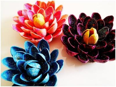 Recycled DIY Flower Pistachio Shells (Pista Shells)