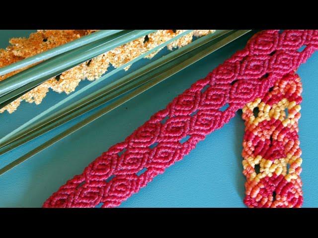 Rose Patterned Macramé Bracelet - Craft Tutorial [DIY]