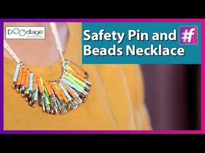 Safety Pin and Beads Necklace | Best Out of Waste Ideas | Diwali Special