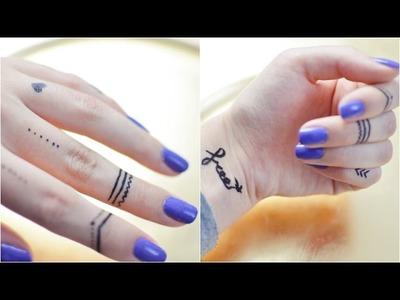 Temporary Tattoo DIY Tutorial | Tattoostift, Tattoo Alternative