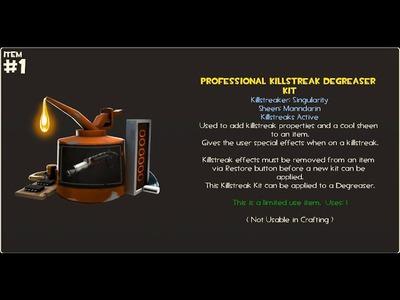 TF2 How To Craft Professional Killstreak Kit Simplified Singularity Manndarin MvM