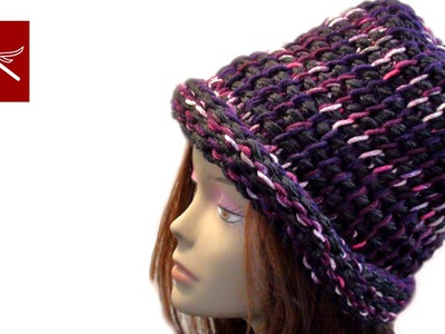 THERMAL REVERSIBLE CROCHET HAT Tunisian Crochet Geek