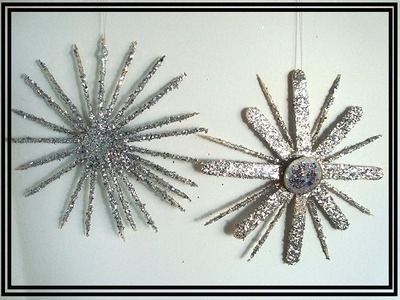 TOOTHPICK STARBURST, HOLIDAY ORNAMENT, diy,  christmas ornament, recycle