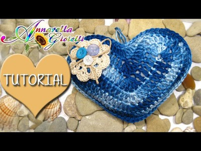 Tutorial cuore puccioso all'uncinetto | How to crochet a heart