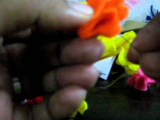 Tutorial flower rose felt craft