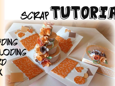 Tutorial Paper Craft. Scrapbooking torta matrimonio - DIY Wedding Cake Esploding Box