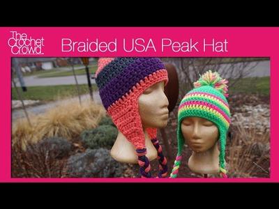 USA Peak Crochet Hat