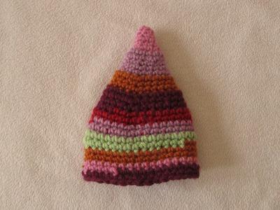 VERY EASY crochet elf hat - fun crochet baby. toddler beanie