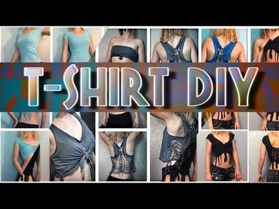 3 DIY T-Shirt Cutting unique fashion ideas