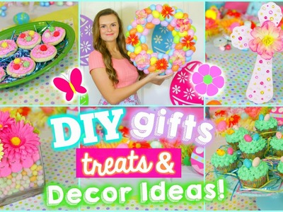 5 Fun Easter.Spring DIYS: Gifts, Treats, & Decoration Ideas!! (Cute & Easy)