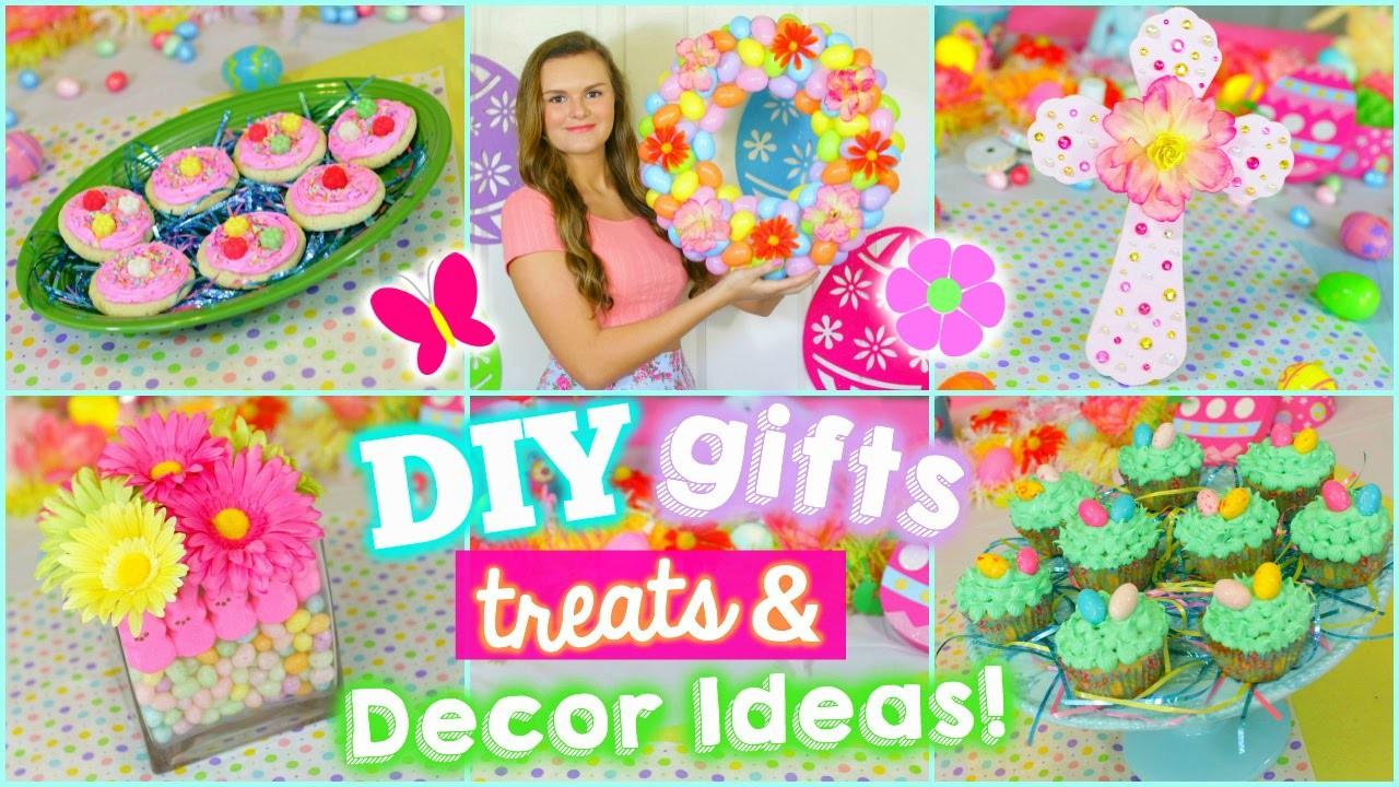 5 Fun Easter.Spring DIYS: Gifts, Treats, & Decoration Ideas!! (Cute & Easy)