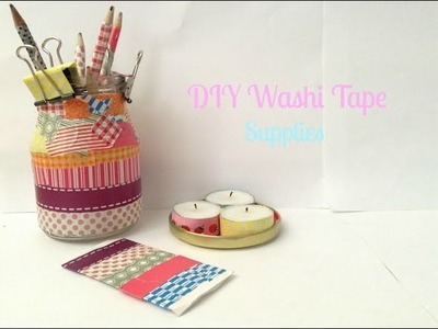 Back To School DIY ♡ Washi Tape Supplies