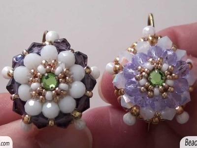 BeadsFriends: Beaded earrings - Earrings made with a handmade hook that can be closed