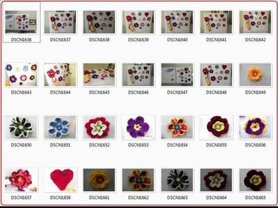 Beautiful Crochet Flowers Photos 4