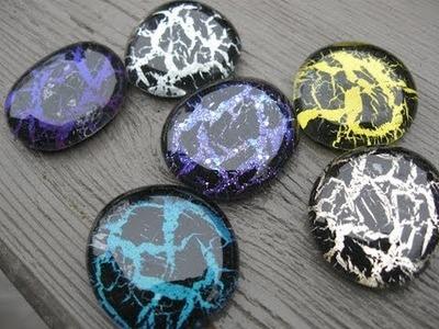 Crackle Nail Polish Glass Stones