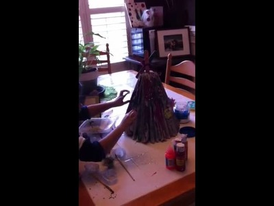 Craft:  Phone book Christmas tree