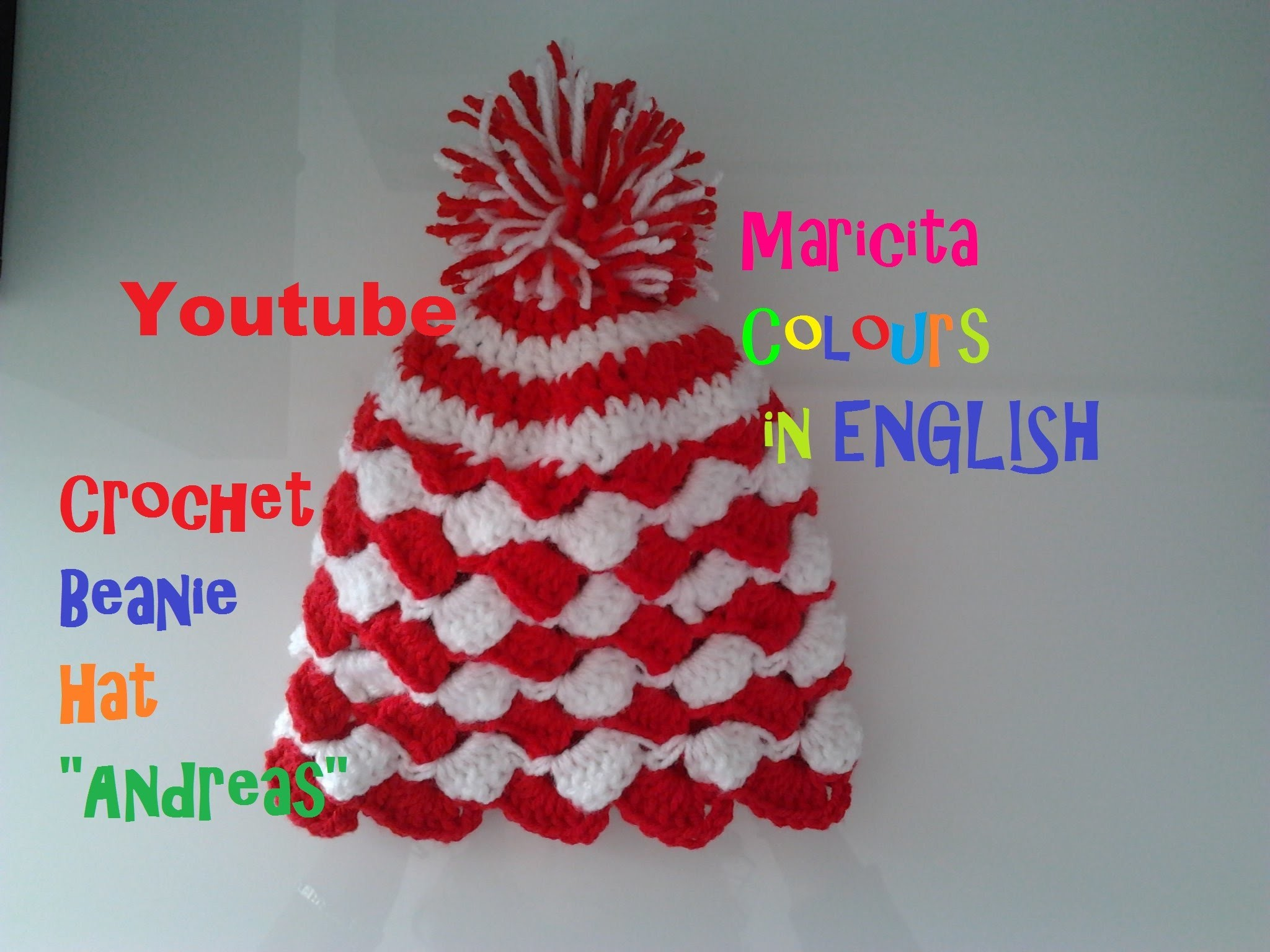 """Crochet in ENGLISH Baby Beanie Hat """"Andreas"""" (Part 2) all sizes AUDIO in English"""