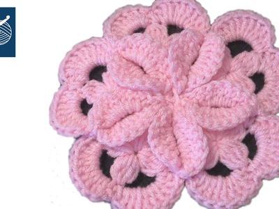 Crochet Origami Motif Left Hand Version Crochet Geek