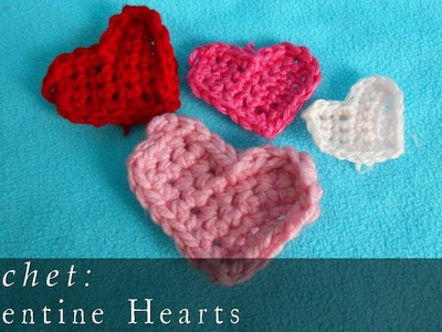 Crochet Valentine Hearts  |  + Earrings