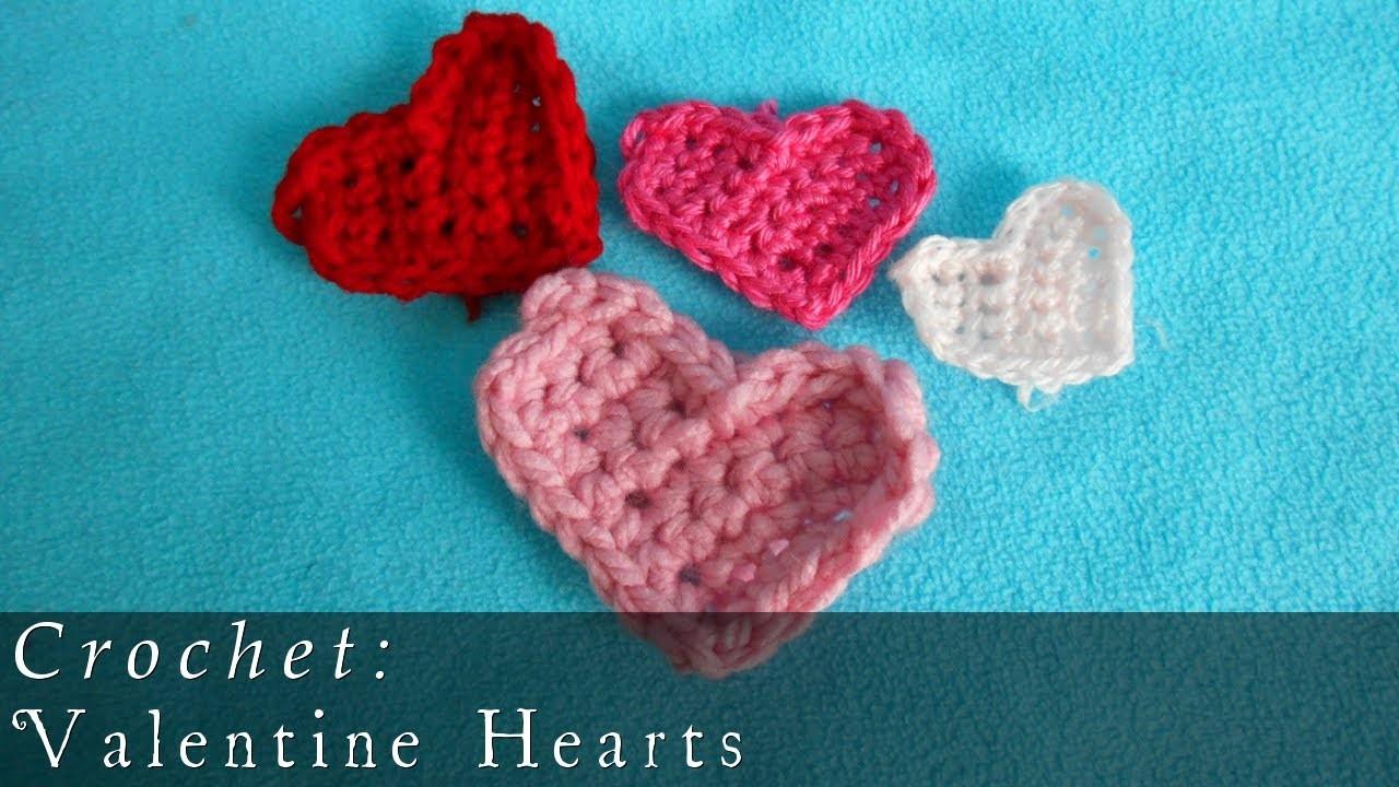 Crochet Valentine Hearts  |  + Earrings