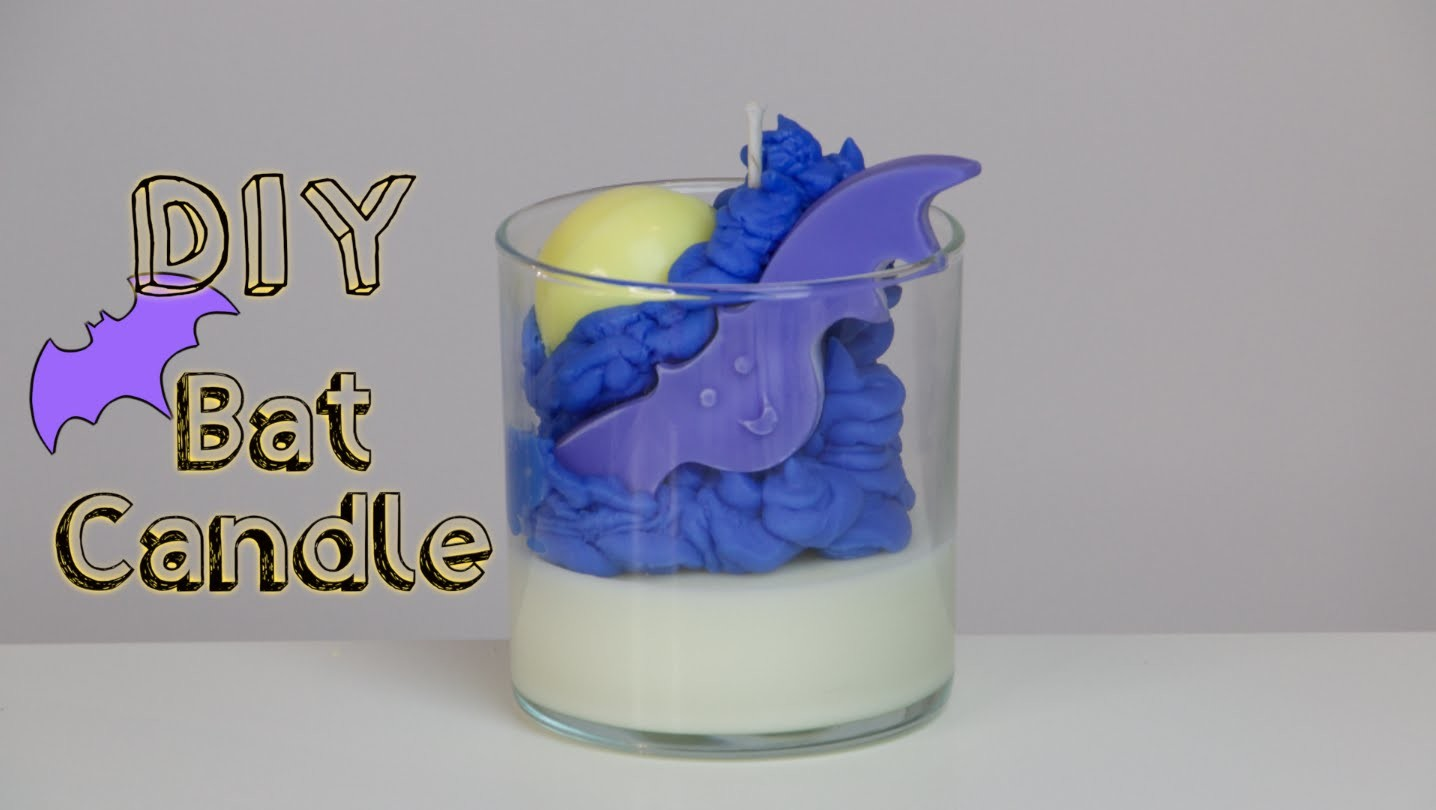 DIY Halloween Bat Candle