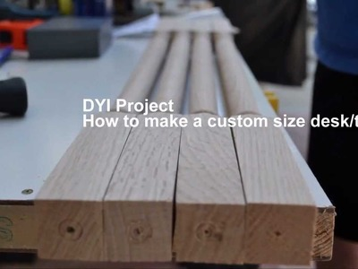DIY: How to make a custom size table