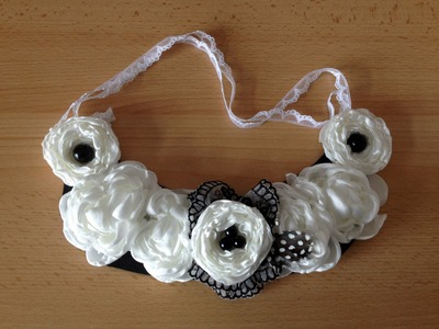 DIY: How to make a Fabric Flower Bib Necklace - Sustainable Patch