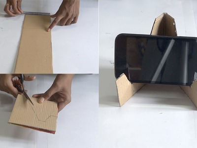 DIY - Making of Mobile Stand in 5 Minutes Using Waste Material - Tutorial